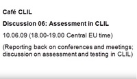 Cafe CLIL Discussion 06: Assessment in CLIL